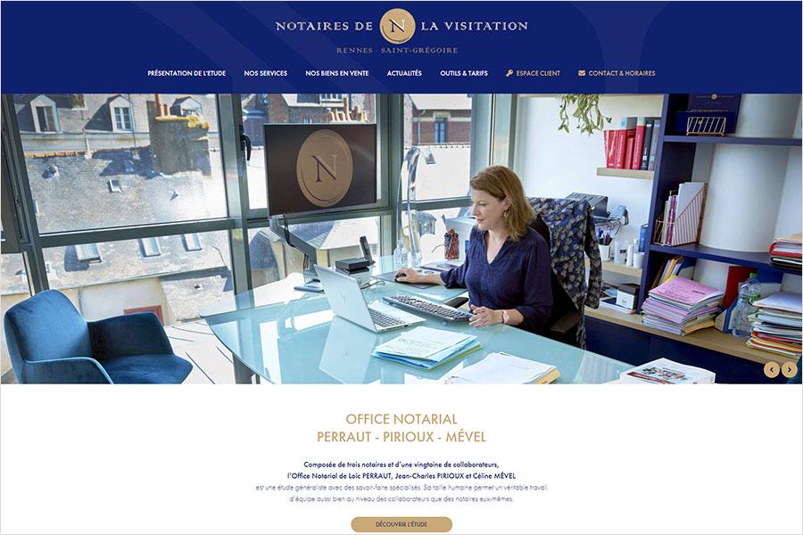 Nouveau site internet Notaires de la Visitation